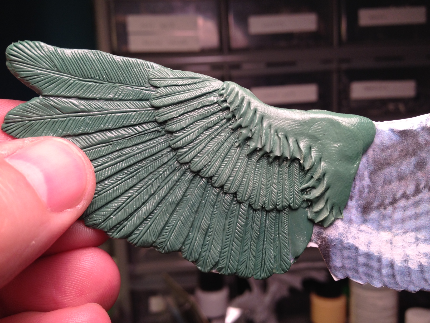How to Sculpt Bird Wings – Little Green Monsters – Xenite\'s ...