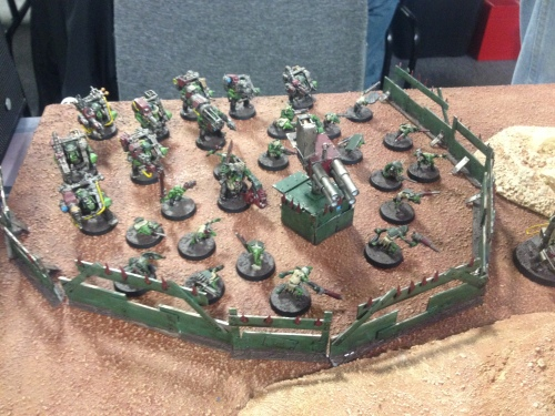 Chris had a lot of very sweet scratch built elements to his army.  This defense line is a great example of what he brought to the table.